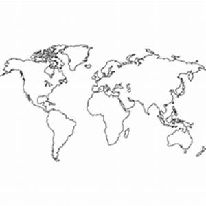 World Outline Map » Coloring Pages » Surfnetkids