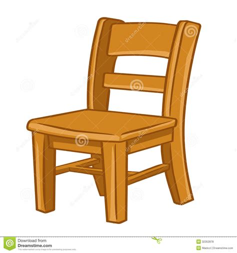 dessin de chaise wood chair isolated illustration stock vector