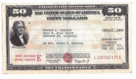 savings bond ebay
