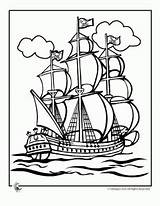 Coloring Pirate Ship Pages Boys Tall Plank sketch template