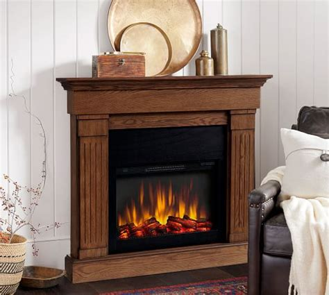 livingston electric fireplace pottery barn