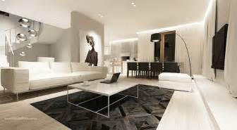 modern monochrome living room decor sofa white olpos design