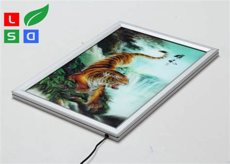 thin led light box frame 20mm width customisable light box for wall poster display