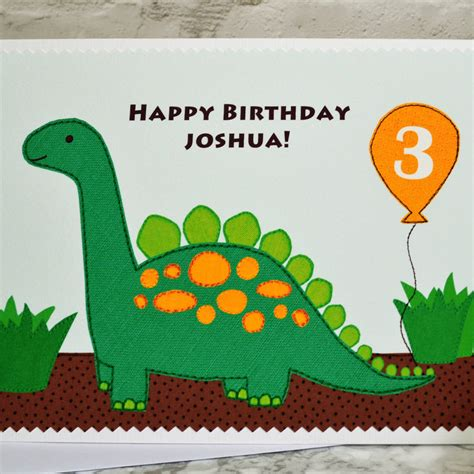 Check spelling or type a new query. 'dinosaur' Personalised Childrens Birthday Card By Jenny Arnott Cards & Gifts ...