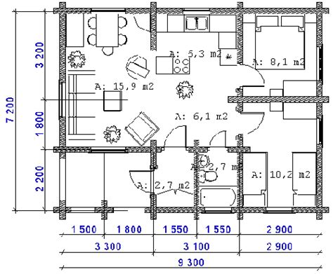 cabin layout plans two bed summer house plans