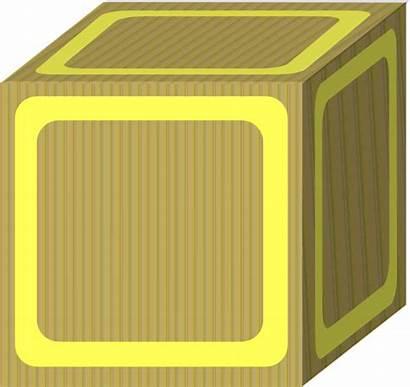 Clipart Block Plain Yellow Clip Transparent Clker