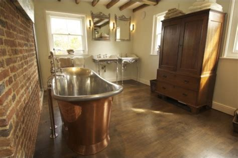 Royal Copper Bath with Nickel Interior.   Chadder & Co.