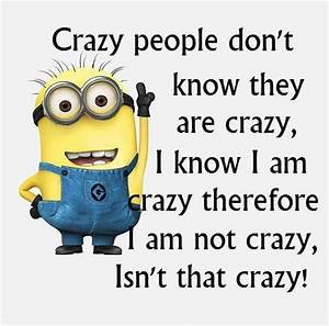 Crazy people don't know they are crazy, I know I am ...