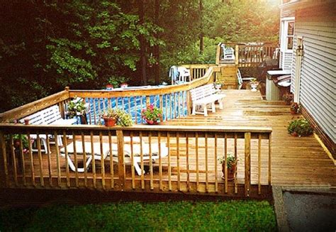 Above Ground Pool Decks Photos Landscaping by Hoehnen Landscaping