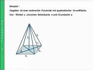 Pyramide Berechnen Formel : winkelberechnungen in der pyramide youtube ~ Themetempest.com Abrechnung