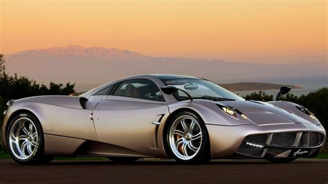 Pagani Huayra Sunset2012 Luxury Car Hd Wallpaper