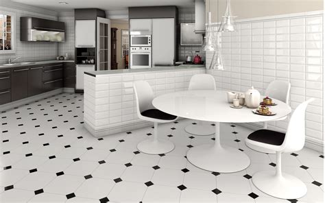 Home Tiles : Modern Kitchen Floor Tile Designs