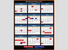 West Bengal Holidays 2017