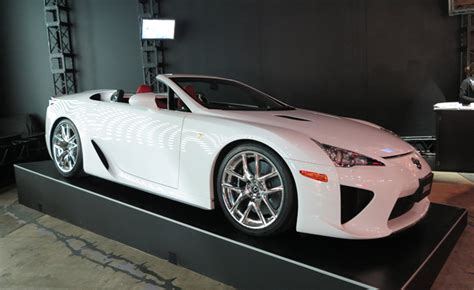 lexus lfa convertible lexus lfa roadster is a no top drop top 2013 tokyo auto