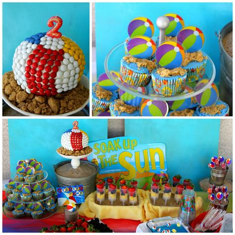 Kara's Party Ideas Beach Ball Birthday Party Supplies