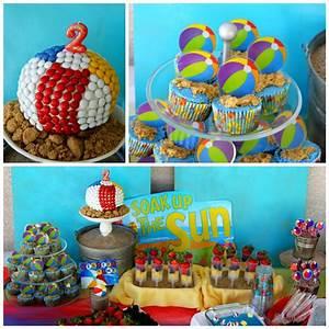 Kara's Party Ideas Beach Ball Birthday Party Supplies ...