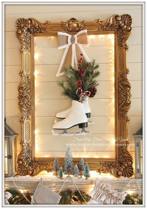 diy christmas mantel ideas  pinterest diy