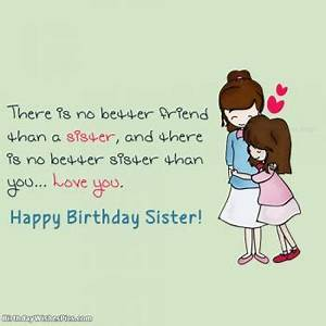 Happy Birthday ... Cute Sister Bday Quotes