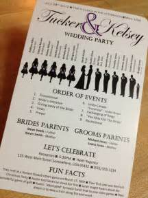 cheap wedding programs printed wedding programs not necessary but a touch