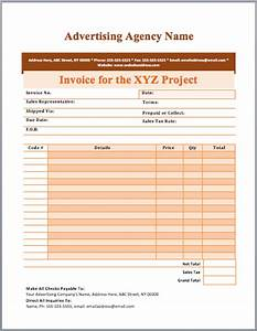 advertising invoice images With advertising invoice sample