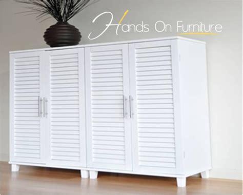 Louvre Door Cupboards by Brand New White Louvre Door 36 Pairs Shoe Storage Cabinet