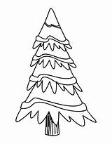 Tree Outline Blank Printable Cartoon Printablee sketch template