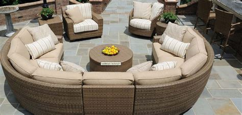 half circle outdoor furniture 25 awesome modern brown all weather outdoor patio sectionals