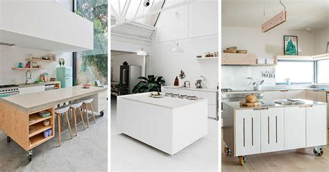 how to build a movable kitchen island 8 exles of kitchens with movable islands that make it