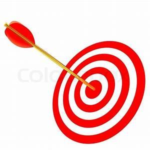 Arrow in a target | Stock Photo | Colourbox