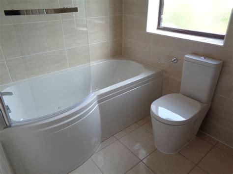 tile and bath remove corner bath and fit p shaped shower bath