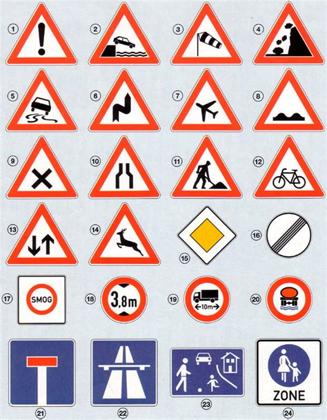 Verkehrsregeln Quiz by Allerlei Verkehrszeichen 01a Lernen 252 Ben