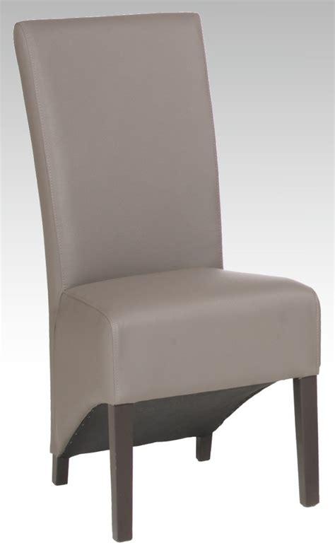 chaise salle a manger cuir chaise de salle à manger toine en eco cuir taupe belfurn