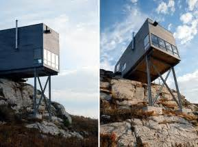bathroom mirror ideas modern wooden house on the rock on the coast of