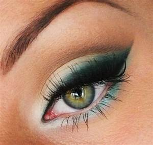 Apprendre A Se Maquiller Les Yeux : maquillage vert et bleu ~ Nature-et-papiers.com Idées de Décoration