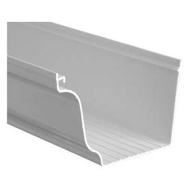 vinyl gutters lowes severe weather 5 in white vinyl gutter i think i m going 3278
