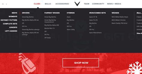 web design mega menu examples  design inspiration