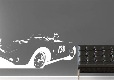james dean sports car people wall stickers adhesive wall