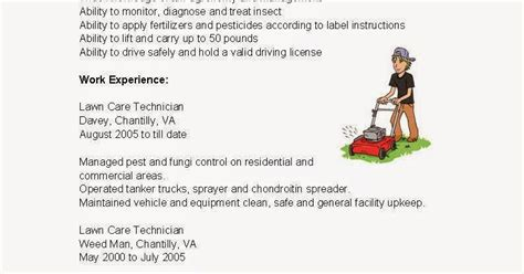 Lawn Care Technician Resume by Resume Sles Lawn Care Technician Resume Sle