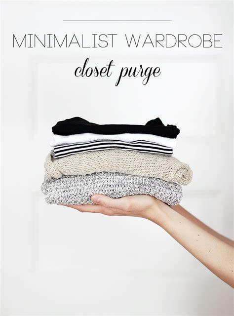 Minimalist Wardrobe Closet Purge Tips  The Merrythought