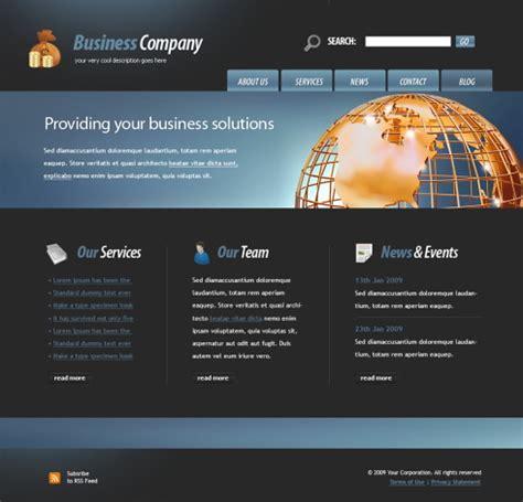 golden globe website template  business website