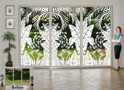 glass doors  tropical