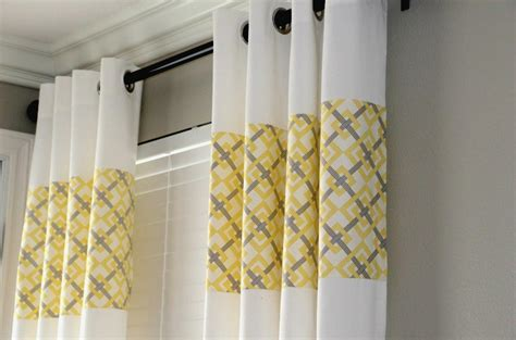 Yellow And Gray Curtains Ikea by G Ikea Curtains Upcycled