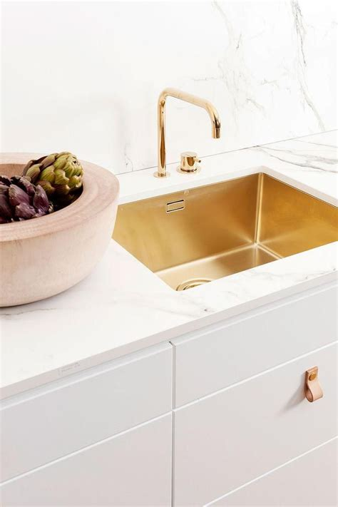 countertop kitchen sink gilded sink and marble countertop stunning and modern 2681