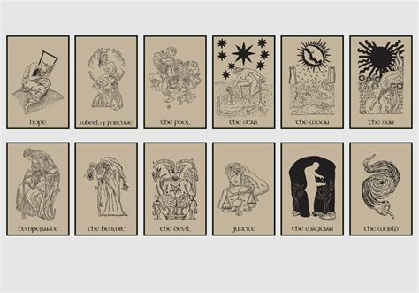 tarot card  brown background vector