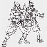 Coloring Clone Wars Trooper Popular sketch template