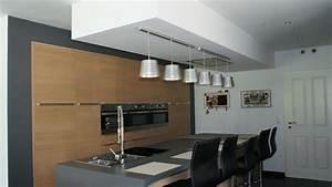 luminaire cuisine avec amenagement cuisine avec ilot With luminaire ilot central cuisine