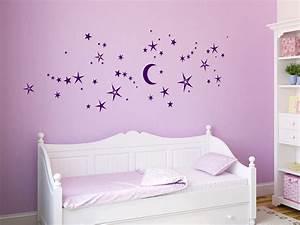 Wandtattoo Baby Mädchen : wandtattoo nachthimmel mit sternen von ~ Markanthonyermac.com Haus und Dekorationen