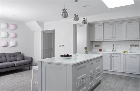 classic style inframe painted white  grey kitchen