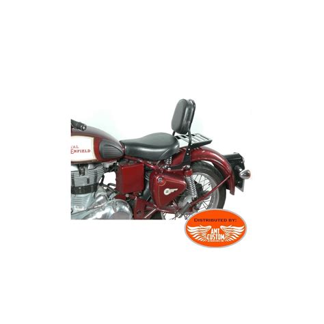 royal enfield black sissy bar driver luggage rack classic  ne spaan