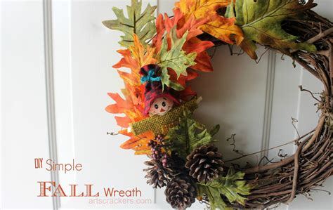 simple fall wreath simple fall wreath tutorial